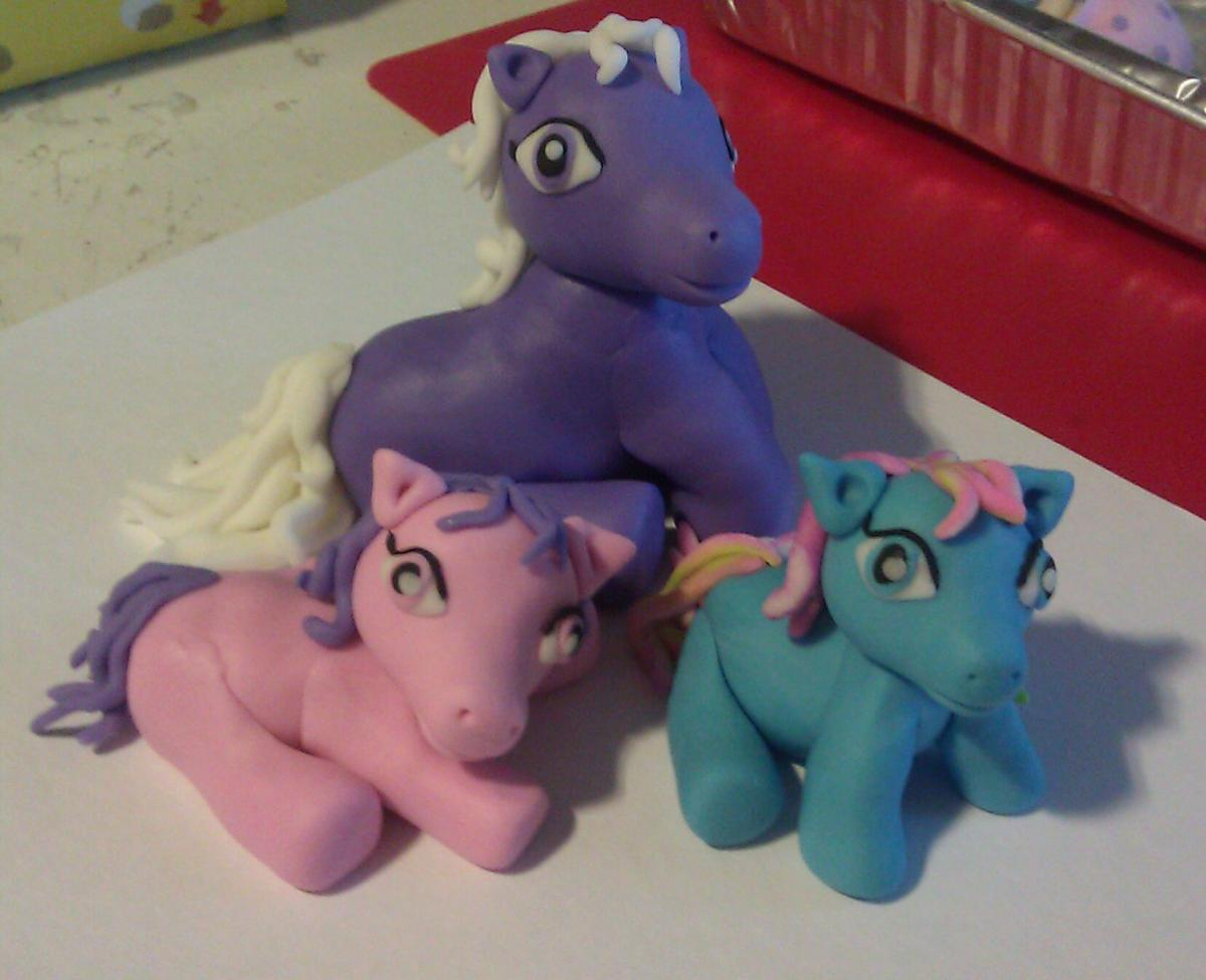 "Fondant ""My Little Pony Inspired"" Cake Toppers (set of 3)"